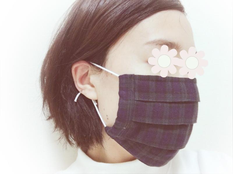 マスク プリーツ 手作り 簡単